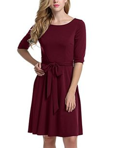 Meaneor Womans 3/4 Sleeve Casual Swing And Cocktail dress... https://www.amazon.com/dp/B01N7GLYFV/ref=cm_sw_r_pi_dp_x_51tHybY4JDV3P