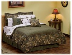 This is the most classy, not too hickish looking camo bed set I have seen, I actually kinda like it with then some nice clean lines for the rest of the furniture