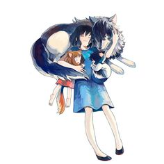 Wolf Children / Ookami Kodomo No Ame To Yuki-Anime Studio Ghibli, Anime Wolf, Manga Anime, Anime Art, Totoro, Wolf Children Ame, Wolf Kids, Film Animation Japonais, Japanese Animated Movies