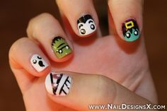 cute nail art for Halloween day 1 - Nail Designs & Nail Art