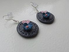 Polymer clay earrings KatikaZ / Hearts http://www.sashe.sk/KatikaZ  http://www.fler.cz/katikaz  https://www.facebook.com/pages/Katika-Handmade-jewelry/611752618918894?ref=hl