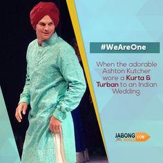 Ashton Kutcher in a #Punjabi Indian look! What do you think about it? #Turban #Kurta #IndianAttire