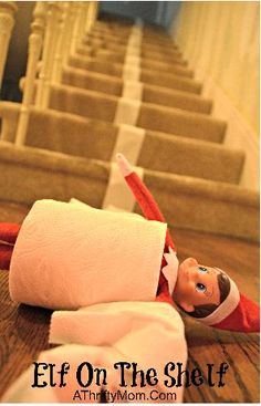 easy and quick elf on the shelf idea