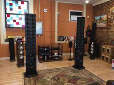 McIntosh line array speakers Sound Room, Big Speakers, Speaker Design, Concert Hall, Audiophile, The Originals, Grills, Channel, Boxes