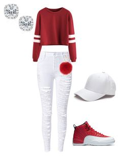 """""""How to wear jordans"""" by suvareajefferson on Polyvore featuring WithChic, L.K.Bennett and Kobelli"""