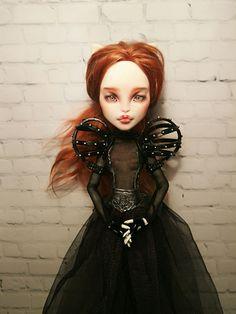 Custom Monster High Dolls, Monster High Repaint, Custom Dolls, Ooak Dolls, Art Dolls, Doll Repaint, Scarlet Witch, Bjd, Fashion Dolls