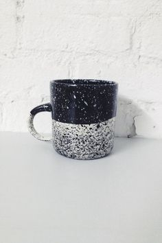 BTW Ceramics Speckled Mug - Black - Young & Able /Also available at our pop-up shop: 345 Broome St. New York 10013