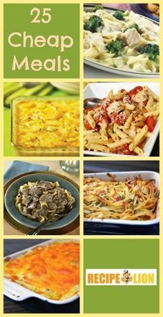 25+ Poor Man Cheap Meals and Frugal Recipes
