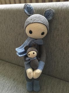 KIRA the kangaroo made by Daniela M. / crochet pattern by lalylala