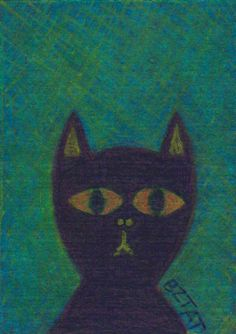 ACEO cat drawing by BZTAT