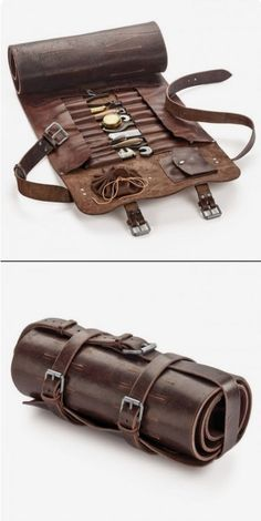 Leather Tooling, Leather Bag, Leather Tool Bags, Leather Roll, Tool Roll, Leather Workshop, Leather Projects, Leather Accessories, Leather Craft