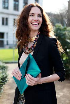 Eugenia Silva. love her collar necklaces