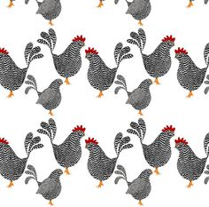 Chicken Rooster Fabric Chick Chick Chickens By