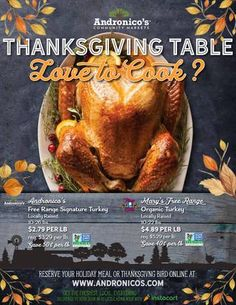 Andronico's Thanksgiving Table  All your Thanksgiving essentials in one place