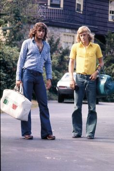 Guillermo Vilas and Bjorn Borg in the early days.