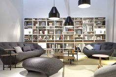 Ligne Roset introduces the new collection at Imm Cologne and Maison & Objet Paris, 2014 Ligne Roset, White Dining Table, Modern Furniture Stores, Baroque Design, Luxury Interior Design, Maine House, Home Remodeling, Family Room, Bookcase