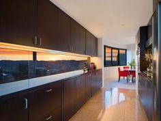#kitchen #brown #timberveneer #harryseidler