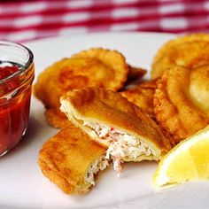 Crab and Ricotta Ravioli - serve with marinara sauce or fry them as a great hors d'oeuvre - Rock Recipes