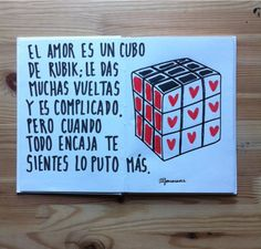 El amor es un Cubo de Rubik... (Alfonso Casas)