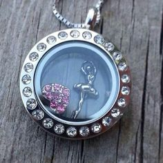 Mini locket - ballerina