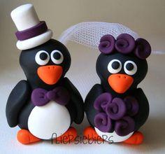 Custom BIG Wedding Penguins Cake Topper. $66.00, via Etsy....... Ohhhh my Jesus!!!!!!!! <333