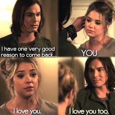 Tyler Blackburn (Caleb) & Ashley Benson (Hanna) - Pretty Little Liars