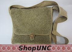 Knit bag Hemp thread Postman's bag Bag Bags Handbag by shopUNC