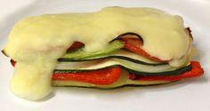 Lasaña de verduras sin pasta y con bechamel de calabacín
