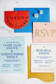 Letterpress Wedding Invitations, Wedding Stationary, Invites, Wedding Branding, Colorful Wedding Invitations, Event Invitations, Palette Pastel, Packaging Design, Visual Identity
