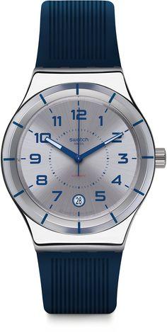 Swatch Men's Irony YIS409 Blue Rubber Swiss Automatic Fashion Watch