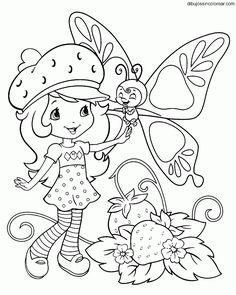 Resultado de imagen para dibujos de rosita fresita y sus amigas para colorear