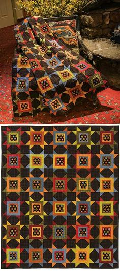 PENNY POINTS FLANNEL QUILT KIT 51x61