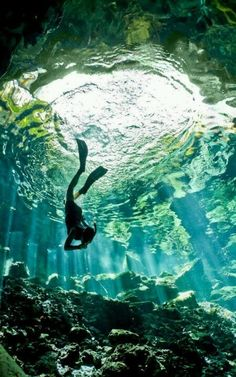 6.) Go scuba diving.  (I'd like to be able to breathe underwater as I would on air and to see the beauty of the ocean below.)
