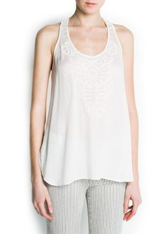 MANGO - NEW - Embroidered top