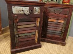 Side tables from shutters