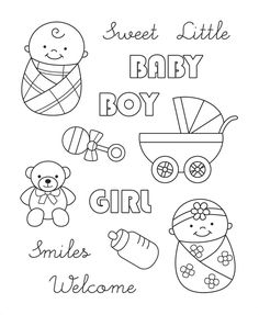 baby themed stamps