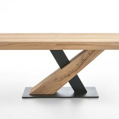 TALIS - Hartmann Möbelwerke GmbH :: Massivholzmöbel made in Germany Welded Furniture, Table Furniture, Modern Furniture, Home Furniture, Furniture Design, Wood Table Design, Dining Table Design, Rustic Bookshelf, Desk Organization Diy