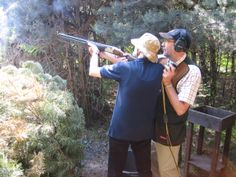 One of our blind veterans clay pigeon shooting at Bisley. Clay Pigeon Shooting, Blind, Sports, Hs Sports, Sport, Shutters
