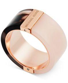 Michael Kors Rose Color Blocked Rings | macys.com