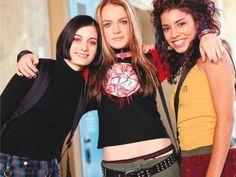 Haley Hudson, Lindsay Lohan & Christina Vidal on the set of Freaky Friday 2000s Fashion Trends, Early 2000s Fashion, 90s Fashion, Fashion Outfits, 2000s Trends, Pop Punk Fashion, Color Fashion, Womens Fashion, Disfraz Halloween Clueless