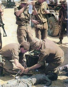 Medics with Fapla insurgent