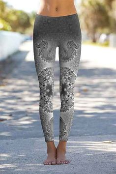Seahorse Spiral Fractal Power Pant by Om Shanti – NEW! | Drishti: Yoga Clothing, Workout Clothes & Yoga Supplies - Santa Barbara Yoga Store