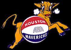 Houston Mavericks Primary Logo (1969) - A bull leaping behind a basketball