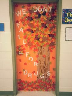 School door theme for Fall and Red Ribbon Week!