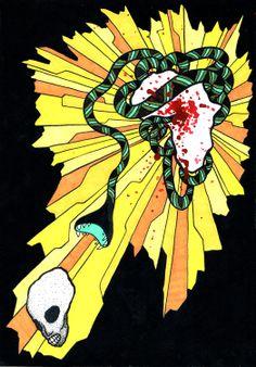"Illuminated ""Heart of Darkness,"" lavishly illustrated by Matt Kish - Boing Boing"