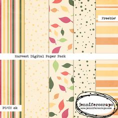 Harvest - Freebie Digital Paper Pack ⊱✿-✿⊰ Join 5,100 others. Follow the Free Digital Scrapbook board for daily freebies. Visit GrannyEnchanted.Com for thousands of digital scrapbook freebies. ⊱✿-✿⊰
