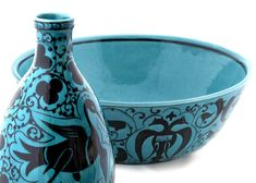 TURGUT TUNA Tile Art, Garden Art, Persian, Decorative Bowls, Medieval, Old Things, Miniatures, Pottery, Turquoise