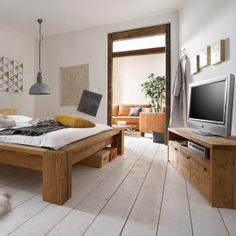 TV Board Tirol - egal ob im Schlaf-oder im Wohnzimmer. Das Designer-Echtholzmöbel fügt sich in jeden Raum. Exklusiv erhältlich auf www.exklusiv-moebel-versand.de