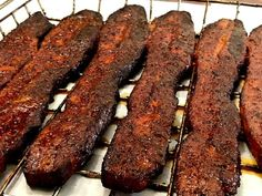 Smoked and Seared Pork Belly Slices - Smoking Meat Newsletter - Smoked and Seared Pork Belly Slices – Smoking Meat Newsletter - Smoked Meat Recipes, Smoked Pork, Sausage Recipes, Pork Belly Smoked, Venison Recipes, Smoked Brisket, Smoked Chicken, Pellet Grill Recipes, Grilling Recipes