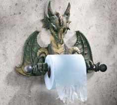 Dragon toilet paper holder.  I need this.